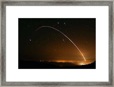 Minuteman IIi Launch April 2 2008 Framed Print