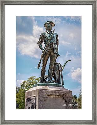 Minuteman Statue Framed Print by Pat Lucas