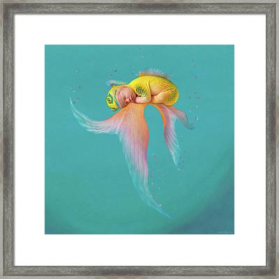 Mira As A Tropical Fish Framed Print