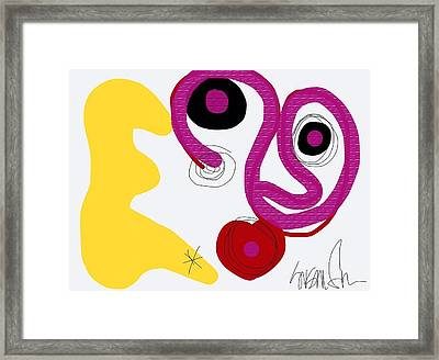 Miro Miro On The Wall Framed Print