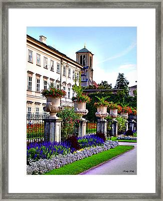 Mirabell Palace And Gardens Framed Print by Kathy Kelly
