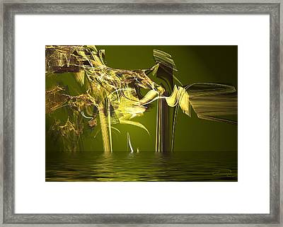 Miracle In The Forest Framed Print by Emma Alvarez