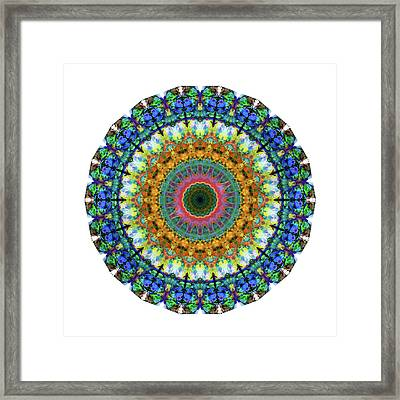 Miracle Mandala Art By Sharon Cummings Framed Print by Sharon Cummings