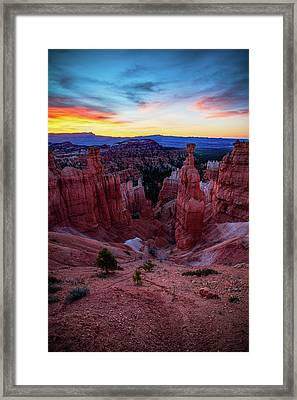 Thor's Light Framed Print by Edgars Erglis