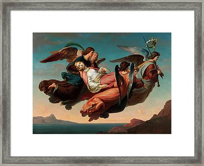 Miraculous Translation Of The Body Of Saint Catherine Of Alexandria To Sinai Framed Print