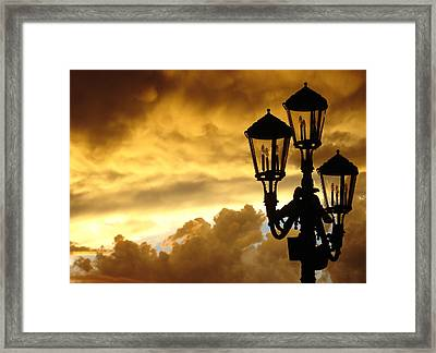 Mirage Night Sky Framed Print by Michael Simeone