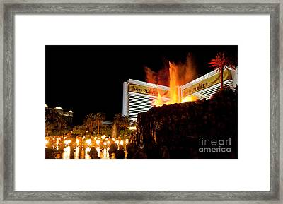 Mirage Volcano Framed Print by Andy Smy