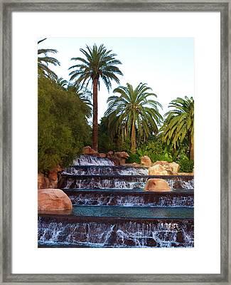 Mirage Waterfall Framed Print by Rae Tucker