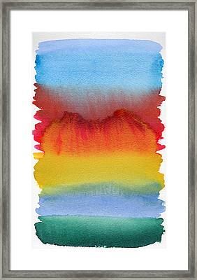 Framed Print featuring the painting Miraggio by Bee-Bee Deigner