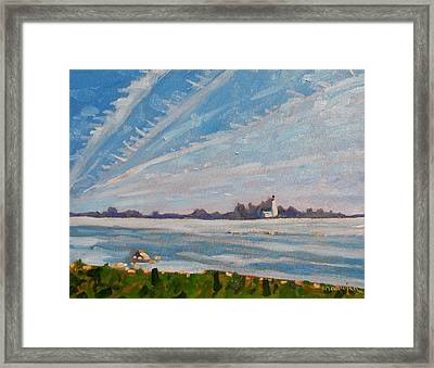 Miramachi Contrails Framed Print by Phil Chadwick
