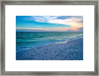 Miramar Blue  Framed Print