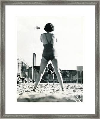 Framed Print featuring the photograph Miramar Pool, 1932 by Cole Thompson