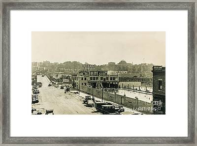 Framed Print featuring the photograph Miramar Pool, 1927 by Cole Thompson