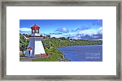 Miramichi Lighthouse Framed Print by Levin Rodriguez