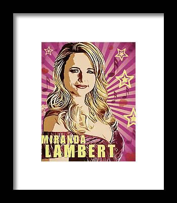 Miranda Lambert Framed Prints