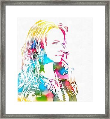 Miranda Lambert Watercolor Framed Print by Dan Sproul