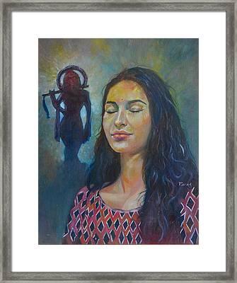 Mira's Faith Framed Print