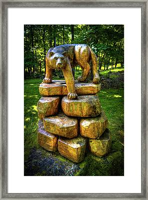 Framed Print featuring the photograph Mirnie's Cougar Sculpture by David Patterson