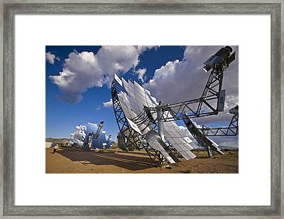 Mirror Arrays Concentrate Light Making Framed Print by Michael Melford