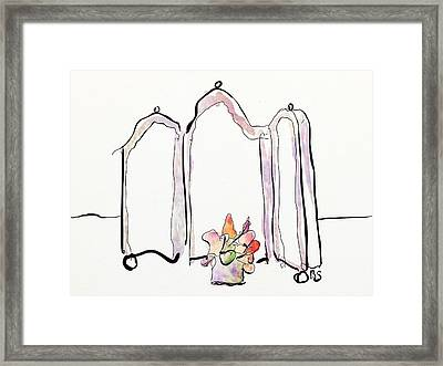 Sketch Mirror Framed Print