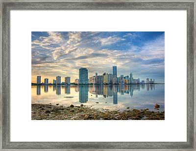 Mirror City Framed Print