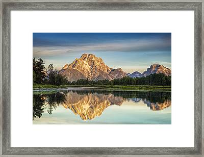 Mirror Image At Oxbow Bend Framed Print