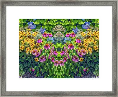 Flowers Pareidolia Framed Print