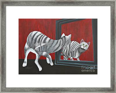 Mirror Image Framed Print by Jutta Maria Pusl