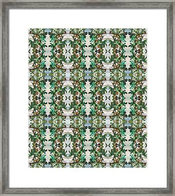Mirror Image Of Acorns On An Oak Tree Framed Print