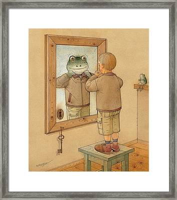 Mirror Framed Print by Kestutis Kasparavicius