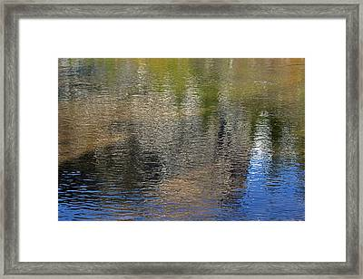 Mirror Lake Reflections 04 13 Framed Print by Walter Fahmy