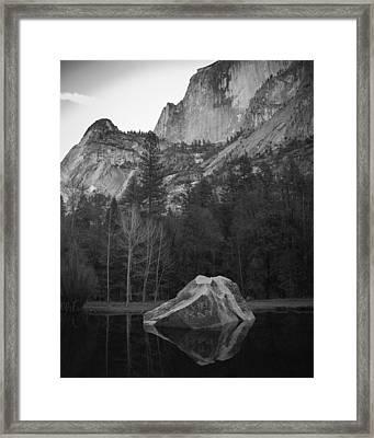Mirror Lake Rock Framed Print