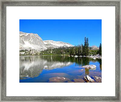 Mirror Lake Wyoming Framed Print by Kristina Chapman