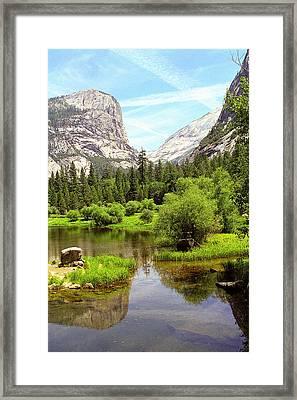 Mirror Lake Yosemite Framed Print by Alan Lenk