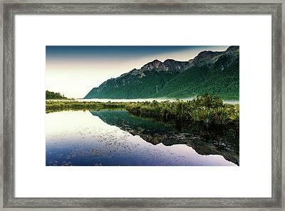 Mirror Lakes Sunlight Framed Print