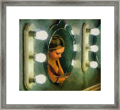 Mirror Mirror On The Wall Framed Print by Jeff Kolker