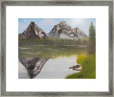 Mirror Mountain Framed Print