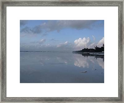 Mirror Ocean Water Framed Print