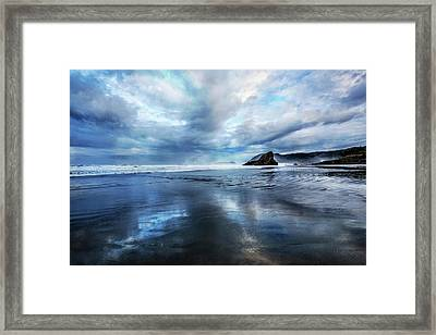 Framed Print featuring the photograph Mirror Of Light by Debra and Dave Vanderlaan