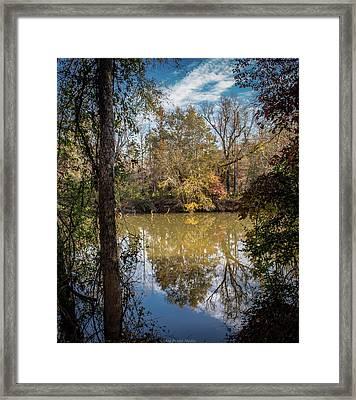 Mirror River Framed Print