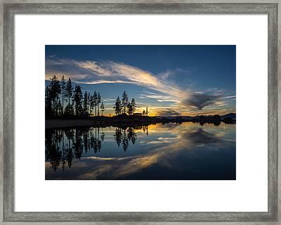 Mirror Sunset Framed Print