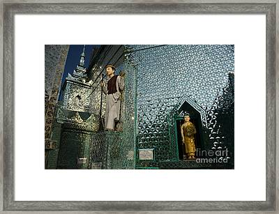 Mirror Temple In Burma Courtyard View Framed Print