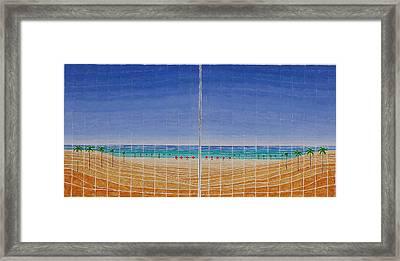 Mirror Twin Beaches Framed Print