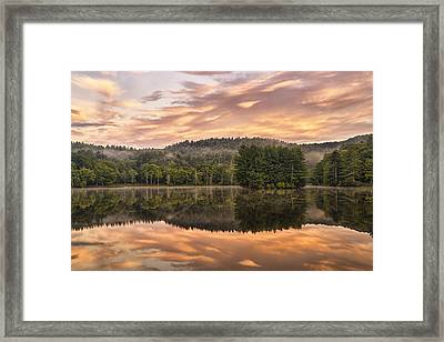 Bass Lake Sunrise - Moses Cone Blue Ridge Parkway Framed Print