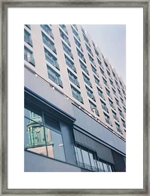 Mirrored Berlin Framed Print