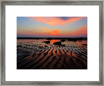 Mirrored Sky Framed Print by Dianne Cowen