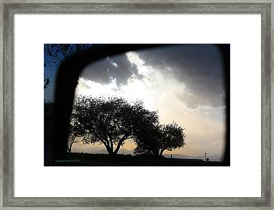 Mirrored Sunset Framed Print by KatagramStudios Photography