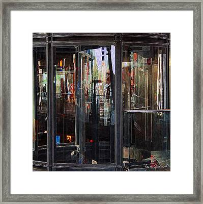 Mirroring The Elevatorshaft Framed Print by Arie Van Garderen