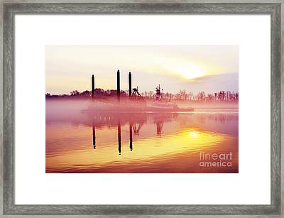 Mirrors - Delaware River Series Framed Print