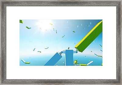 Mirror's Edge Framed Print